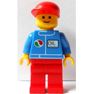 LEGO Octan Worker Red Legs and Long Bill Cap Minifigure