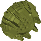 LEGO Olive Green Giant Wheel with Pin Holes and Spokes (64712)