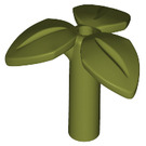 LEGO Olive Green Leaves with Bar (37695)