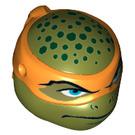 LEGO Olive Green Michelangelo Head (17294)
