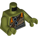 LEGO Olive Green Michelangelo Minifig Torso (76382)