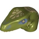 LEGO Olive Green Raptor Head (20986)