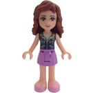 LEGO Olivia with Medium Lavender Skirt and Dark Blue Vest Minifigure