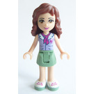 LEGO Olivia with Sand Green Skirt, Lavendar Top with Scarf Minifigure