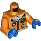 LEGO Orange Arctic Explorer, Male with Orange Goggles Minifig Torso (76382 / 88585)