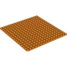 LEGO Orange Baseplate 16 x 16 (6098)