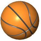 LEGO Orange Basketball with Standard Lines (45530)