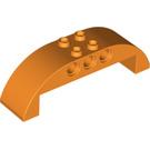 LEGO Orange Bow Upper Part 2 x 8 x 2 Ø4.85 (11290)