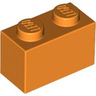 LEGO Orange Brick 1 x 2 (3004 / 93792)