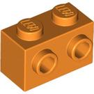 LEGO Orange Brick 1 x 2 with Studs on 1 Side (11211)