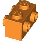 LEGO Orange Brick 1 x 2 with Studs on Opposite Sides (52107)