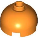 LEGO Orange Brick 2 x 2 Round with Dome Top (Safety Stud with Bottom Axle Holder x Shape   Orientation) (30367)
