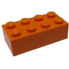 LEGO Orange Brick 2 x 4 (3001)