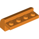 LEGO Orange Brick 2 x 4 x 1.33 with Curved Top (6081)