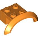 LEGO Orange Brick 2 x 4 x 1 with Wheel Arch (98282)