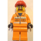 LEGO Orange Construction Work Minifigure