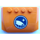 LEGO Orange Curved Wedge Plate 4 x 6 x 2/3 with Arctic Explorer Logo Sticker