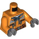 LEGO Orange Demolition Driller Driver Minifig Torso (76382)