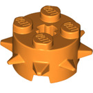 LEGO Orange Design Brick 2 x 2 x 1 Circle with Spikes (27266)
