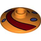 LEGO Orange Dish 2 x 2 Inverted with Decoration (56072)
