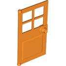 LEGO Orange Door 1 x 4 x 6 with 4 Panes and Stud Handle (60623)