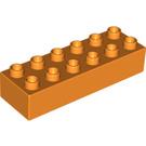LEGO Orange Duplo Brick 2 x 6 (2300)