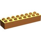 LEGO Orange Duplo Brick 2 x 8 (4199)