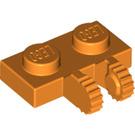 LEGO Orange Hinge Plate 1 x 2 Locking with Dual Stub (60471)