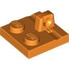 LEGO Orange Hinge Plate 2 x 2 with 1 Locking Finger on Top (92582)