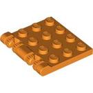 LEGO Orange Hinge Plate 4 x 4 Locking (44570)