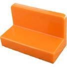 LEGO Orange Panel 1 x 2 x 1 with Rounded Corners (4865)