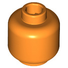 LEGO Orange Plain Head (Safety Stud) (3626 / 88475)