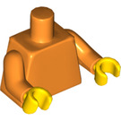 LEGO Orange Plain Minifig Torso with Orange Arms and Yellow Hands (76382)