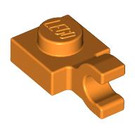 LEGO Orange Plate 1 x 1 with Horizontal Clip (Thick Open 'O' Clip) (52738 / 61252)