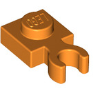 LEGO Orange Plate 1 x 1 with Vertical Clip (Thick Open 'O' Clip) (44860 / 60897)