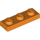 LEGO Orange Plate 1 x 3 (3623)