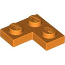 LEGO Orange Plate 2 x 2 Corner (2420)