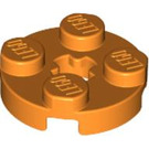LEGO Orange Plate 2 x 2 Round with Axle Hole (with 'X' Axle Hole) (4032)