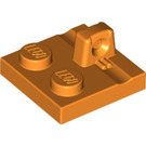 LEGO Orange Plate 2 x 2 with 1 Locking Finger on Top (92582)