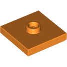 LEGO Orange Plate 2 x 2 with Groove and 1 Center Stud (23893 / 87580)