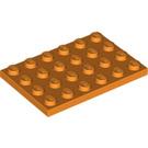 LEGO Orange Plate 4 x 6 (3032)