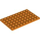 LEGO Orange Plate 6 x 10 (3033)