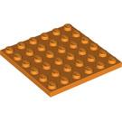 LEGO Orange Plate 6 x 6 (3958)
