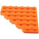 LEGO Orange Plate 6 x 6 without Corner (6106)