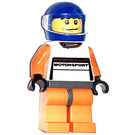 LEGO Orange Porsche Driver Minifigure