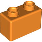 LEGO Orange Quatro Brick 1 x 2 (63.4 X 31.4) (48287)