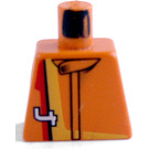 LEGO Orange Racer Driver, Scorcher Torso without Arms