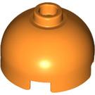 LEGO Orange Round Brick 2 x 2 with Dome Top (Blocked Open Stud with Bottom Axle Holder x Shape + Orientation) (30367)