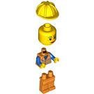 LEGO Orange Safety Vest with Silver Stripes Female Train Minifigure