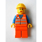 LEGO Orange Safety Vest with Silver Stripes Female Train Minifigure